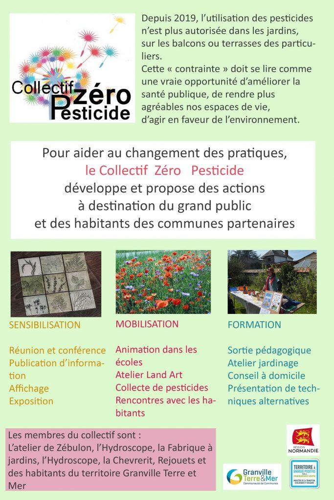 Un des projets, le collectif zéro pesticide